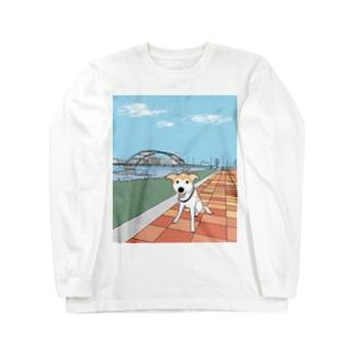 ロビンとお散歩 Long sleeve T-shirts