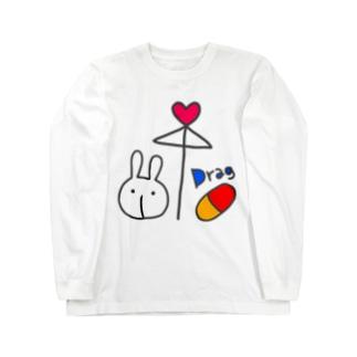相合傘 Long sleeve T-shirts