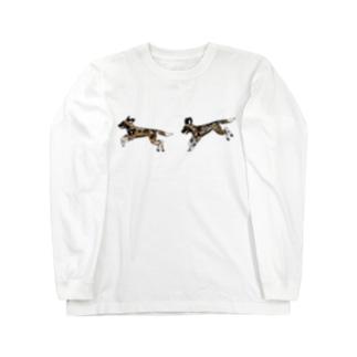 なかよしリカオン Long sleeve T-shirts