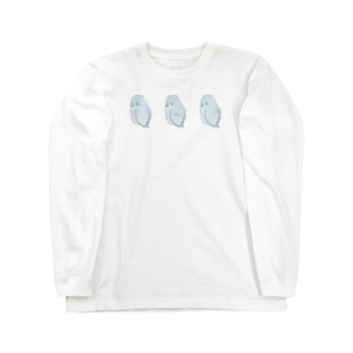 可愛いアメリカンホワイト マメルリハちゃん【まめるりはことり】 Long sleeve T-shirts