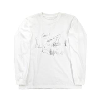 芝刈り機 Long sleeve T-shirts