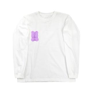 モチモチグミベア パープル Long sleeve T-shirts