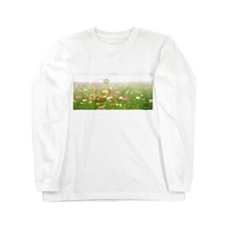 秋桜畑 Long sleeve T-shirts
