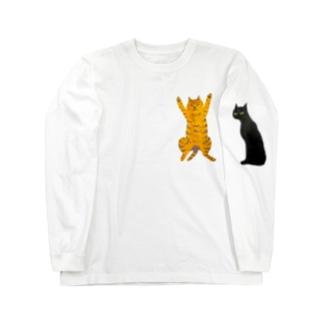 ねこねこんんん Long sleeve T-shirts