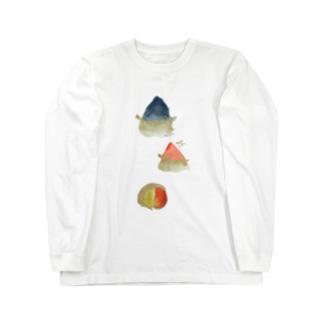 表スズカ背中ミサト(ヲシテアート文字) Long sleeve T-shirts
