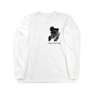 NIKKA SHOT BAR 黒ロゴ Long sleeve T-shirts