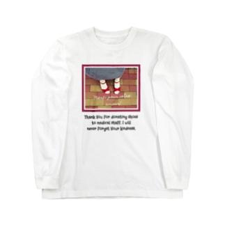赤いサンダル Long sleeve T-shirts