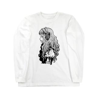 ロリィタちゃん-モノクロ- Long sleeve T-shirts