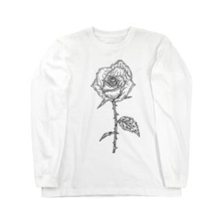 バラ(色なし) Long sleeve T-shirts