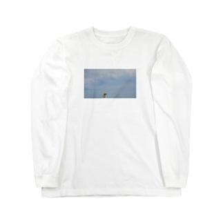 こがちゃんの大空と大地とレオくん Long sleeve T-shirts