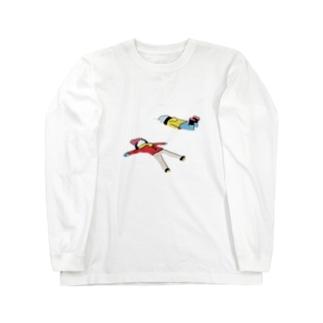 雪遊び Long sleeve T-shirts