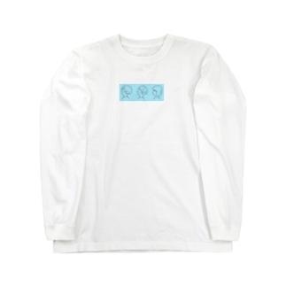 さんしまい(青) Long sleeve T-shirts