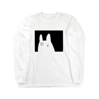 焦る白うさぎ Long sleeve T-shirts