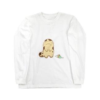 おしまいちゃん(ぴえんVer.) Long sleeve T-shirts
