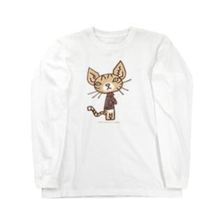 ワタニャベ ネコ Long sleeve T-shirts