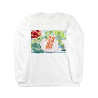 いちごサンド Long sleeve T-shirts