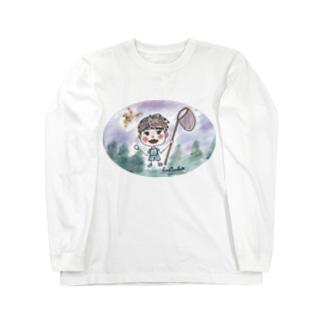 hachisuke☆彡おばぁちゃ~ん(*'ω'*) Long sleeve T-shirts