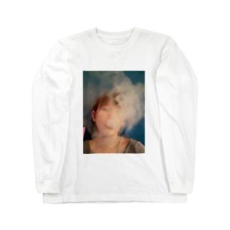 シーシャを吸うわたくし Long sleeve T-shirts