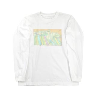 ぐちゃぐちゃ本棚 Long sleeve T-shirts