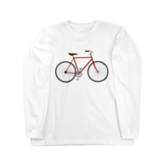赤い自転車 Long sleeve T-shirts