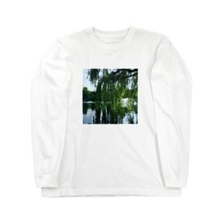 井の頭公園で待ち合わせ。 Long sleeve T-shirts