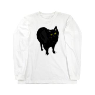 目付きは悪いけど可愛い猫 Long sleeve T-shirts