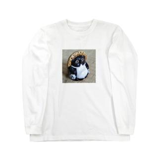 ちび信楽焼たぬき Long sleeve T-shirts