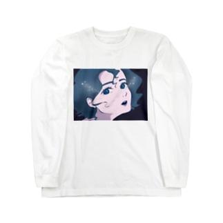 夜を食べる女 Long sleeve T-shirts