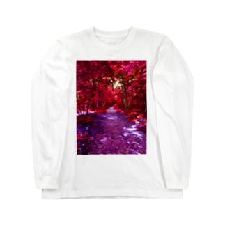 紅の森 Long sleeve T-shirts