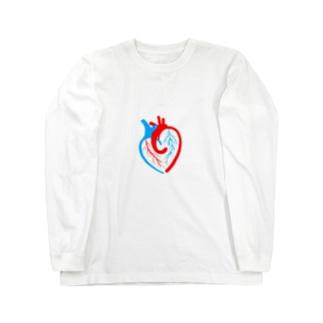 ハートの心臓 Long sleeve T-shirts
