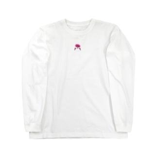 ピンクおさげの女の子 Long sleeve T-shirts