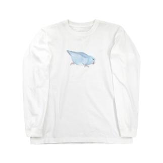 マメルリハ もちふりちゃん【まめるりはことり】 Long sleeve T-shirts