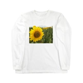八月のひまわり Long sleeve T-shirts