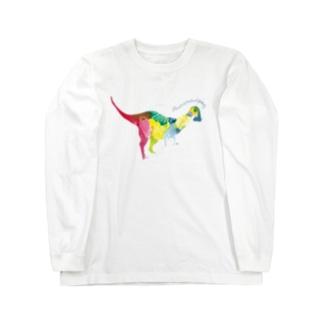 頭がごっちん/パキケファロサウルス Long sleeve T-shirts