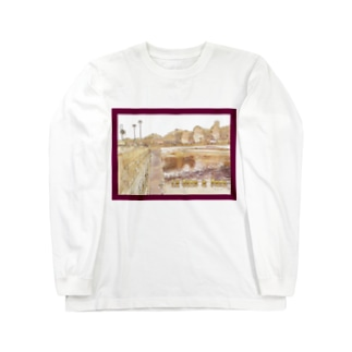 CG絵画:パリのセーヌ川 CG art: La Seine à Paris Long sleeve T-shirts