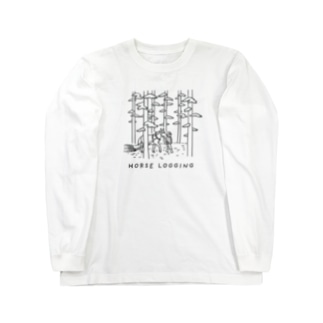 HORSE LOGGING 馬搬 Long sleeve T-shirts