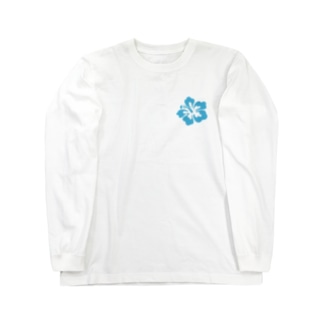 Blue Hibiscus 🌺  Long sleeve T-shirts