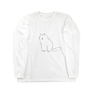ふくよかなねこT Long sleeve T-shirts