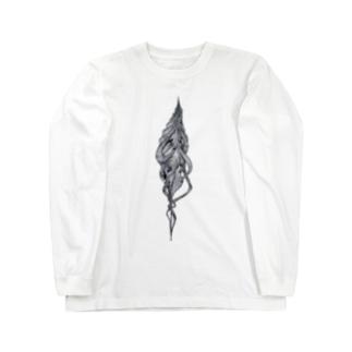 巻貝(黒) Long sleeve T-shirts