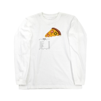 ピッツァのロングスリーブTシャツ Long sleeve T-shirts