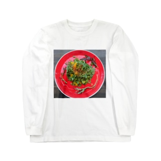 春菊とオレンジのサラダ Long sleeve T-shirts