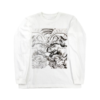 恐竜大行進! Long sleeve T-shirts