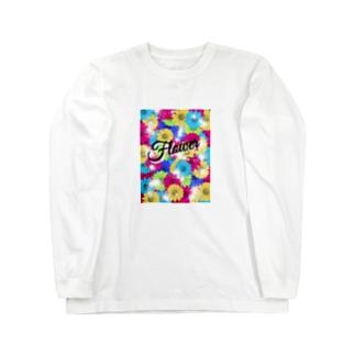 Flower『花』カラフル Long sleeve T-shirts