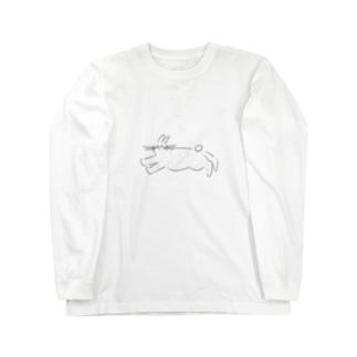白うさぎ Long sleeve T-shirts