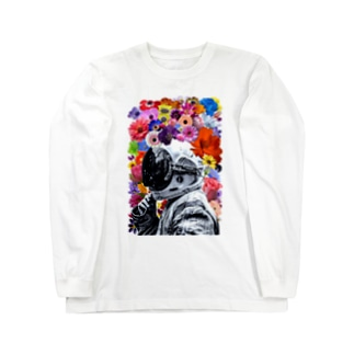 ASTRONAUT and FLOWERS Long sleeve T-shirts