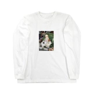 フランス パリの蚤の市の人形 Long sleeve T-shirts