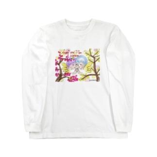 Ang31エンジェルと梅の花 Long sleeve T-shirts
