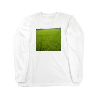 田んぼ Long sleeve T-shirts