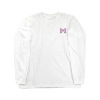 アゲハ×蝶蝶蝶(pink)【両面プリント】 Long sleeve T-shirts