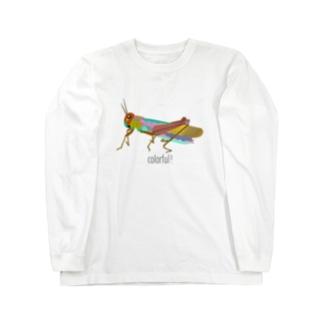 カラフルバッタ Long sleeve T-shirts